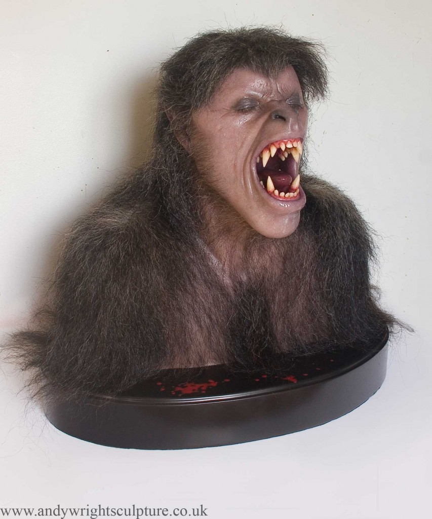American Werewolf in London life size silicone and fibreglass bust