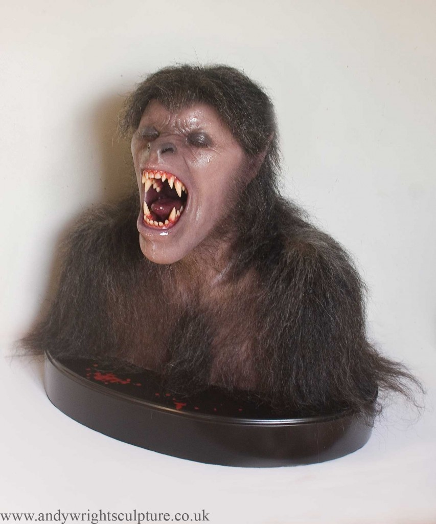 American Werewolf in London 1:1 realistic silicone bust
