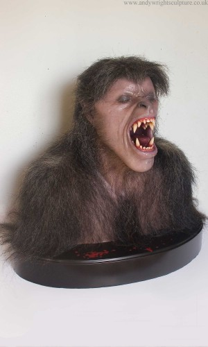 American werewolf in London life size silicone display bust statue