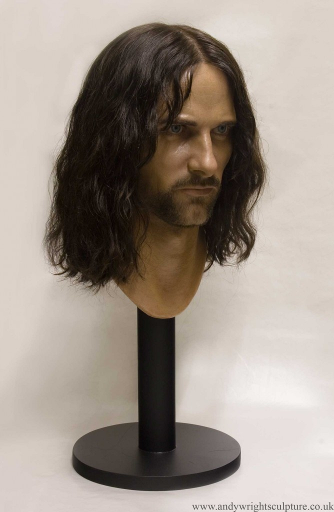 Aragorn 1:1 realistic silicone bust sculpture from Lord of the Rings