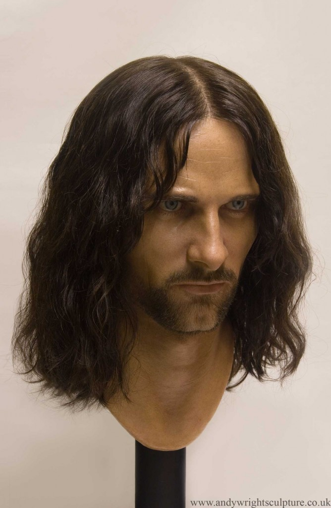 Lord Aragorn life size bust statue collectible from Lord of the Rings