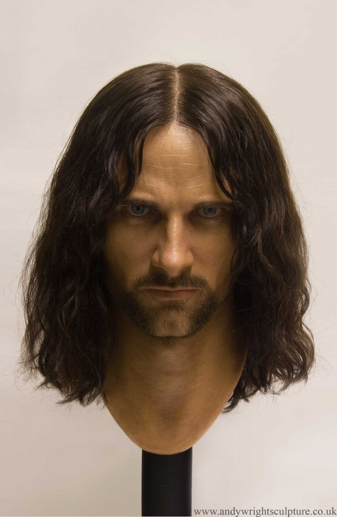 Aragorn 1:1 silicone portrait bust from Fellowship of the Rings