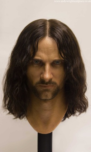 Aragorn from Lord of the Rings, 1:1 life size silicone bust sculpture