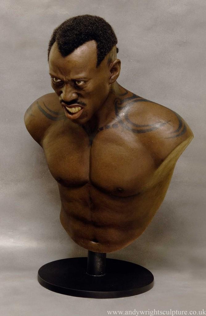 Blade Wesley Snipes Daywalker life like silicone 1:1 portrait bust