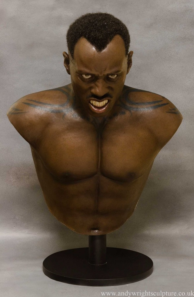 Blade life size silicone bust collectible statue of Wesley Snipes