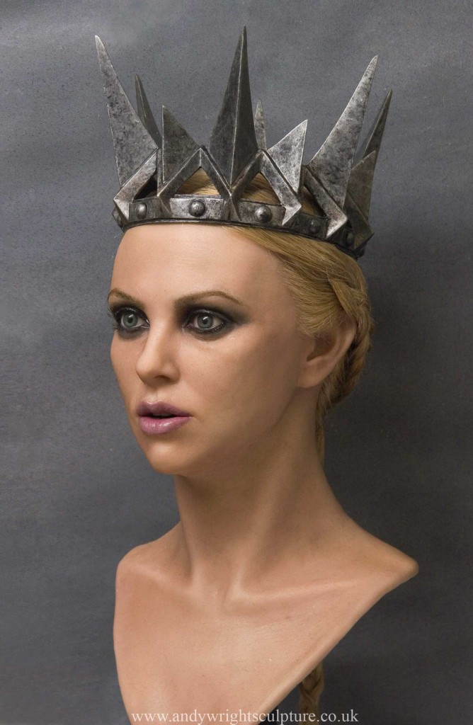 Charlize Theron  - Snow White life size portrait silicone bust statue