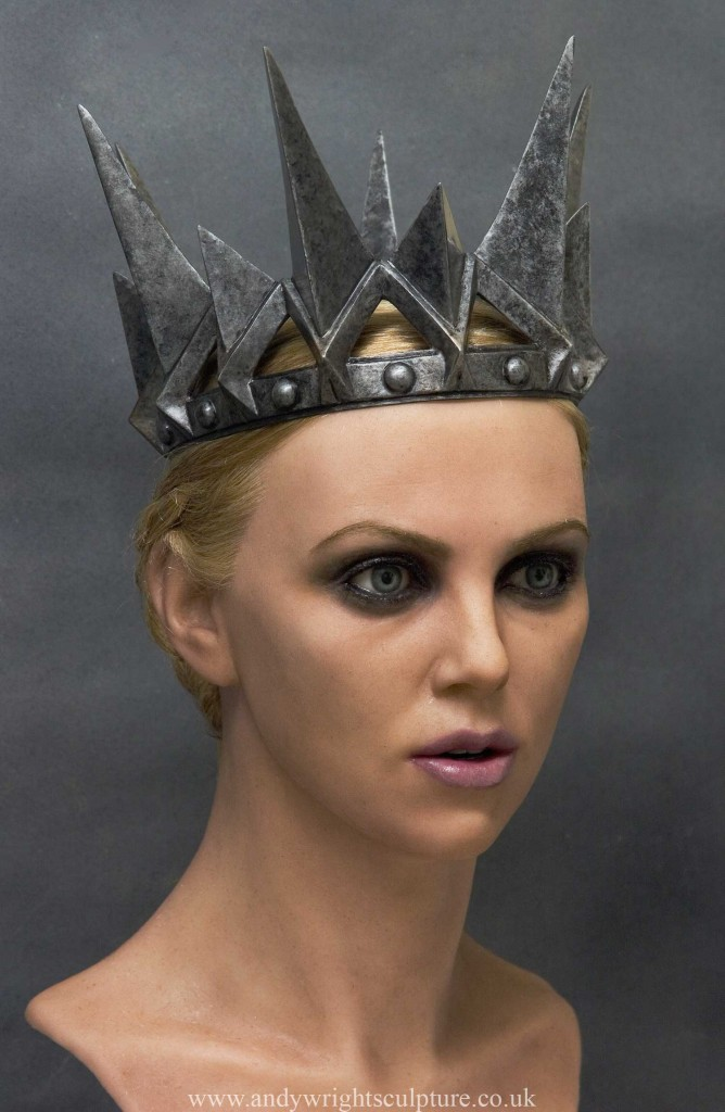 Ravenna, Snow White life size Charlize Theron bust portrait statue