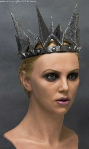 Charlize Theron Ravenna portrait life size bust, from Snow White
