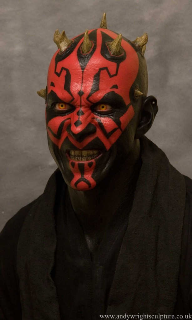Darth Maul 1:1 realistic portrait bust statue collectible