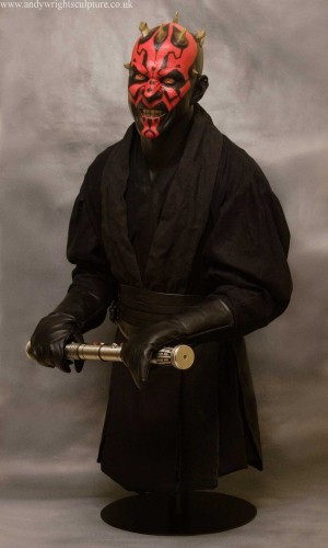 Darth Maul from The Phantom Menace, life size bust statue prop