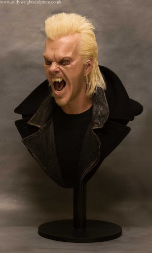 David from The Lost Boys, 1:1 life size portrait sculpture bust prop