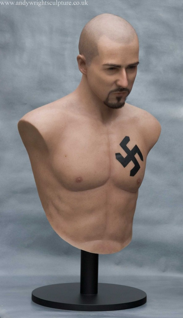 Edward Norton from American History X, 1:1 life size silicone bust