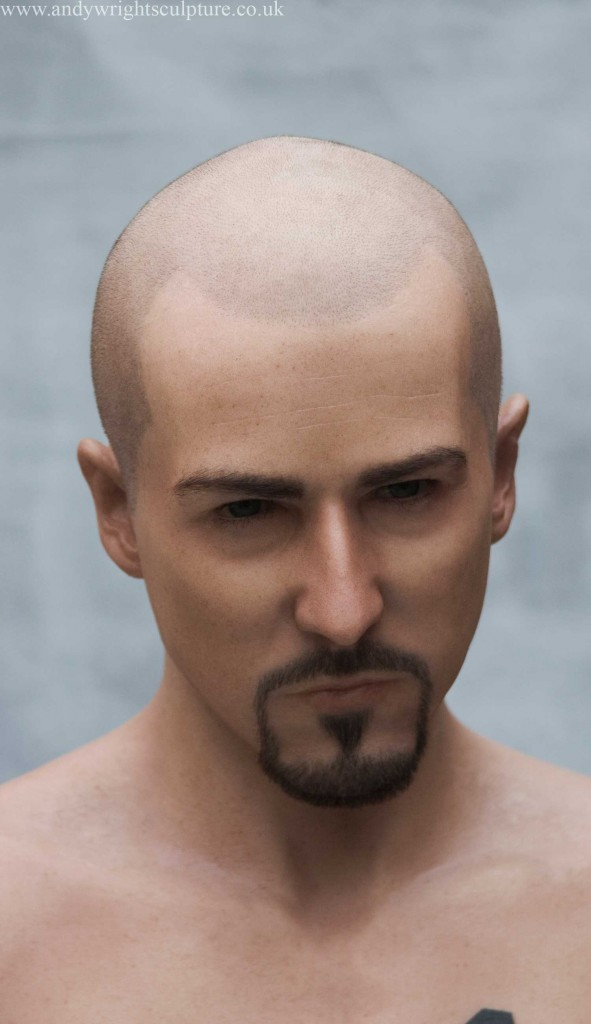 Edward Norton life size bust sculpture  from American History X