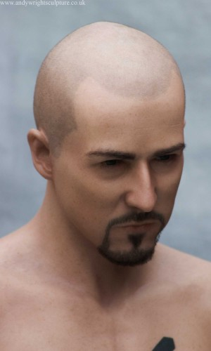 Edward Norton American History X silicone portrait bust sculpture