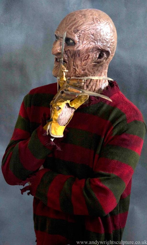 Freddy Krueger Nightmare on Elmstreet life size bust statue prop
