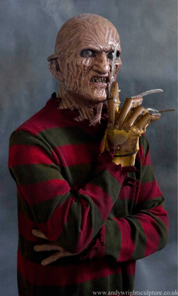 Freddy krueger 1:1 portrait silicone bust statue collectible
