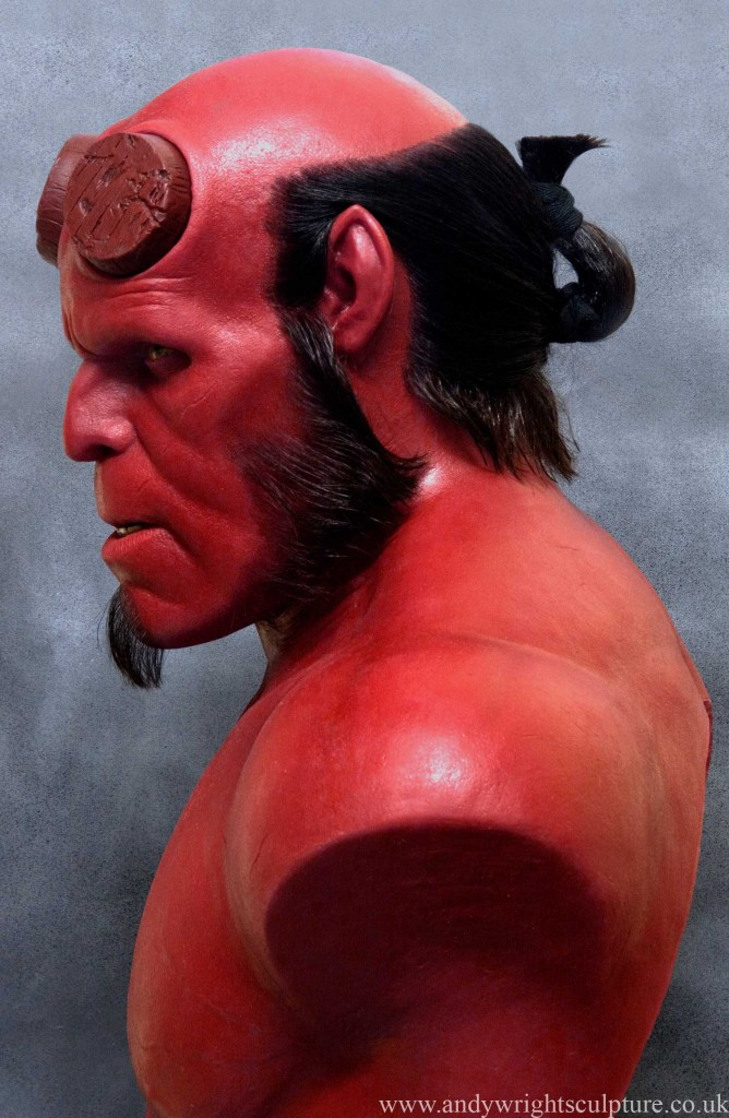 Hellboy from Guillermo Del Toro's Hellboy movie - 1:1 bust statue