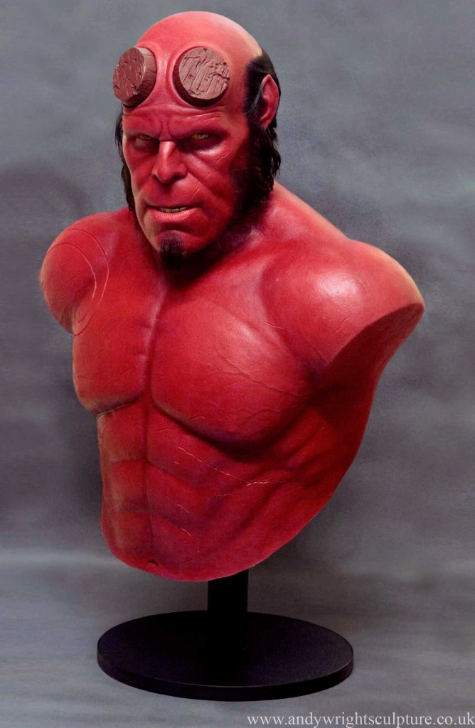 Hellboy played by Ron Perlman, life size portrait bust replica prop