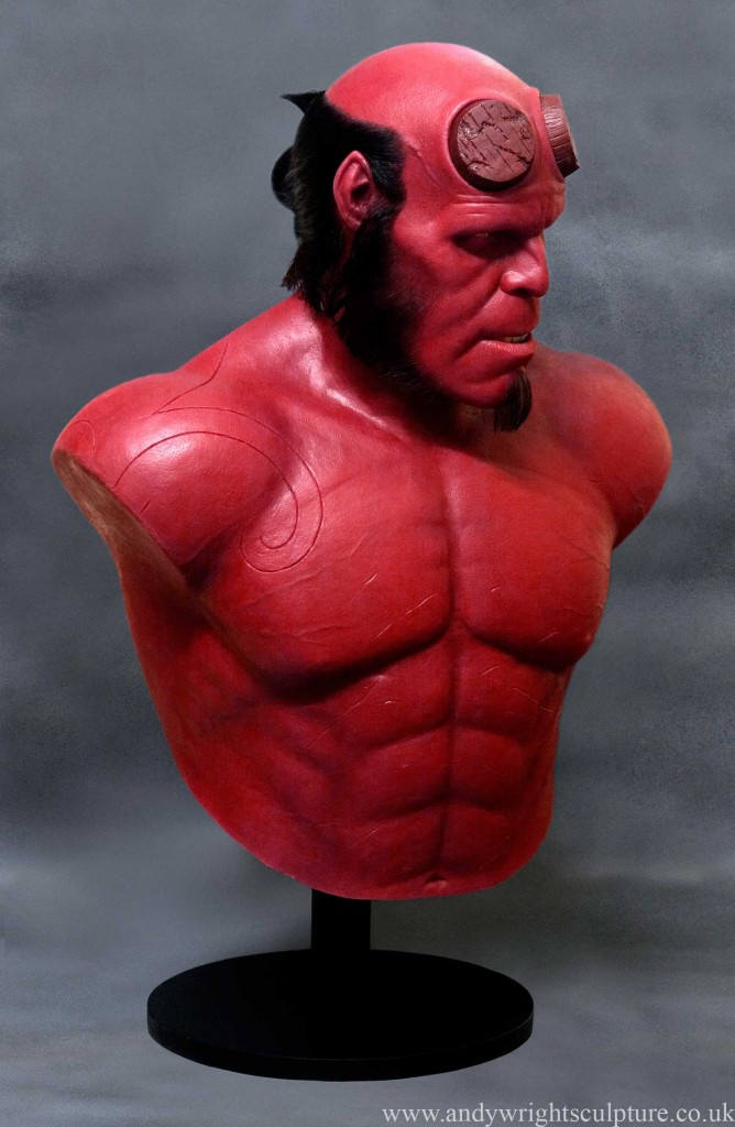 Hellboy 1:1 life size silicone bust statue played by Ron Perlman