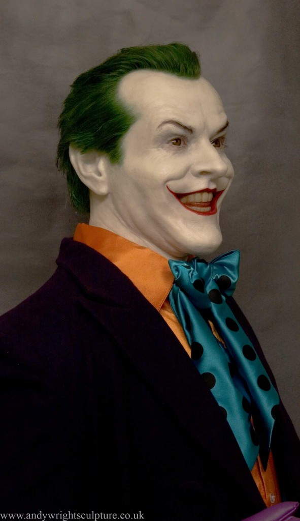 Joker Jack Nicholson from Batman, 1:1 life size silicone bust statue