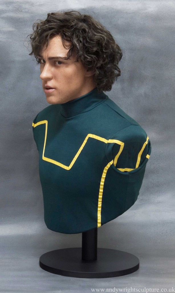 Kick-Ass Aaron Taylor Johnson 1:1 portrait bust sculpture