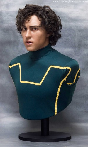 Kick-Ass life size silicone portrait statue of Aaron Taylor Johnson