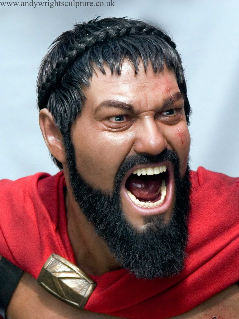 Leonidas life size silicone bust portrait collectible prop sculpture