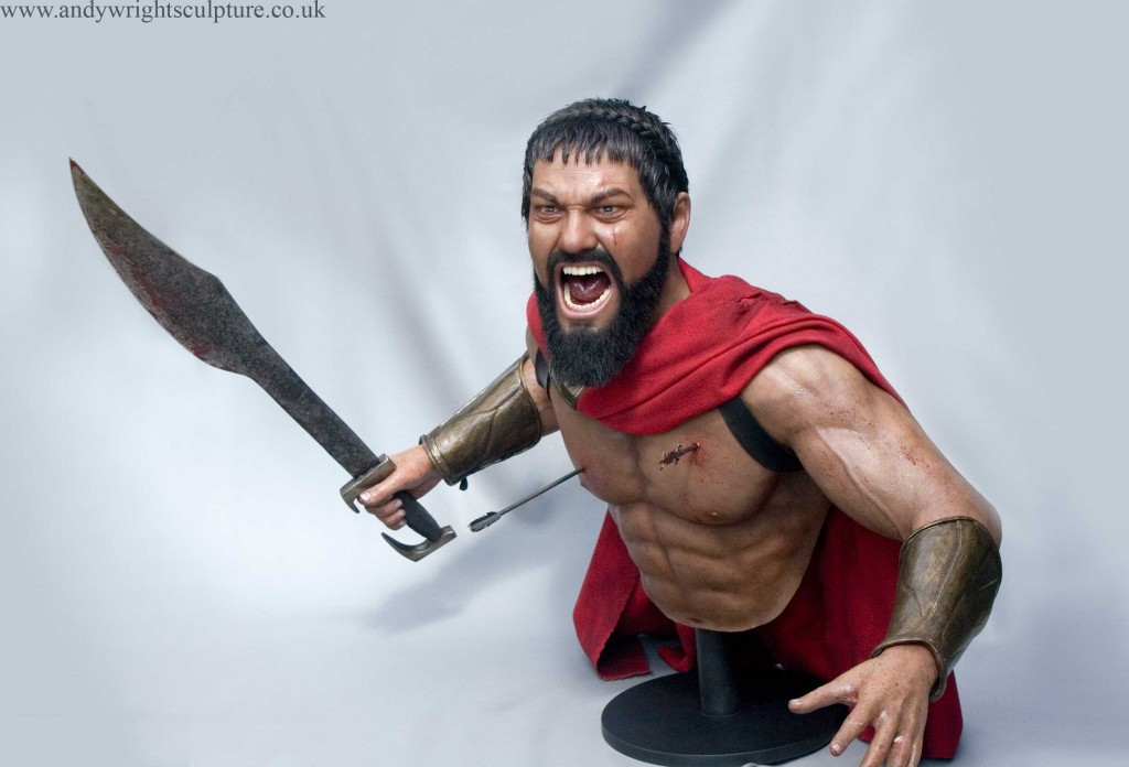 Leonidas silicone bust statue from 300, played by Gerard Butler