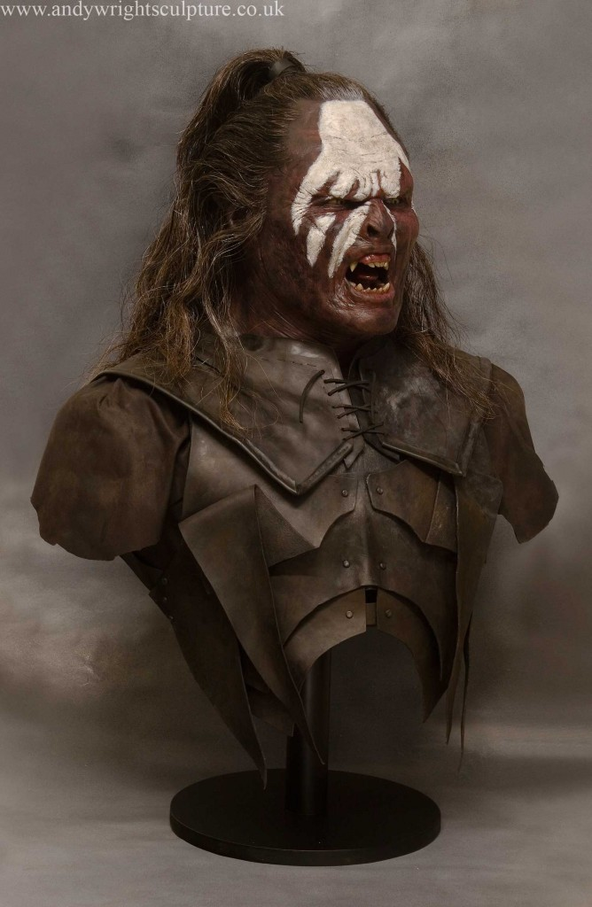 Lurtz from Lord of the Rings, 1:1 life size portrait replica bust prop