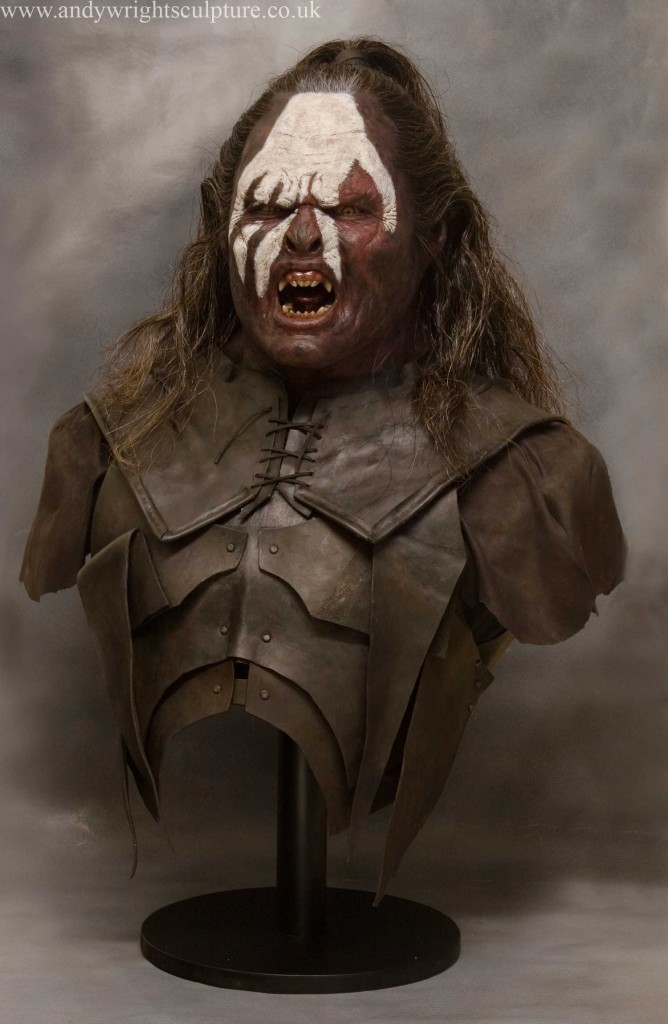 Lurtz Lord of the Rings 1:1 realistic life size display bust statue