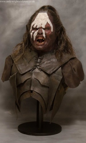 Lurtz from Lord of the Rings, life size prop bust collectible statue