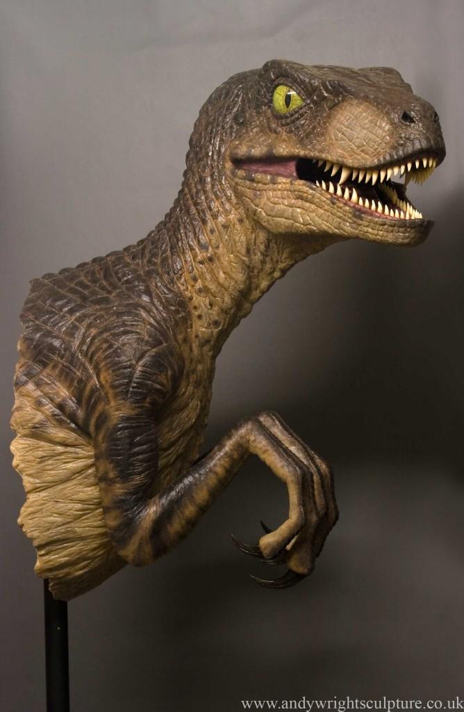 Velociraptor Raptor Jurassic Park 1:1 replica collectible prop statue