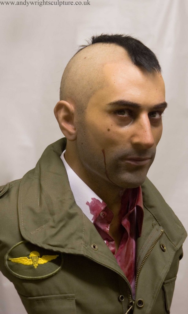 Taxi Driver - Travis Bickle 1:1 silicone bust portrait sculpture