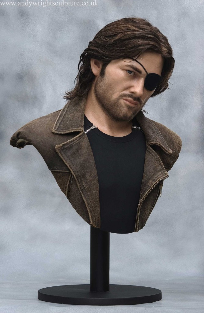 Snake Plissken Kurt Russell life size silicone bust collectible statue