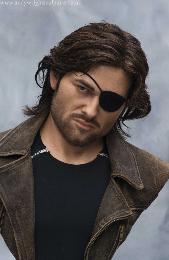 Snake Plissken Life Size Silicone Bust Andy Wright Sculpture