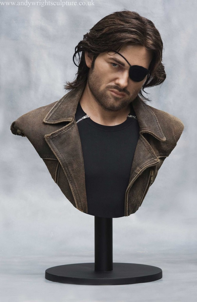 Snake Plissken - Escape from New York life size portrait collectible bust, made from silicone rubber, fibreglass, human hair and acrylics