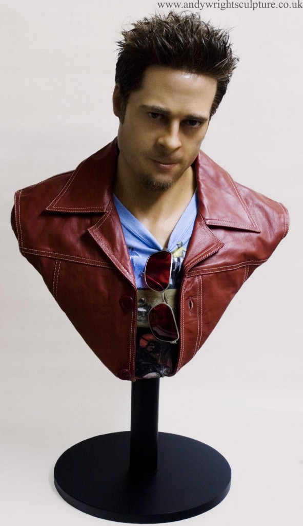 Tyler Durden from Fight Club, life size silicone portrait bust statue