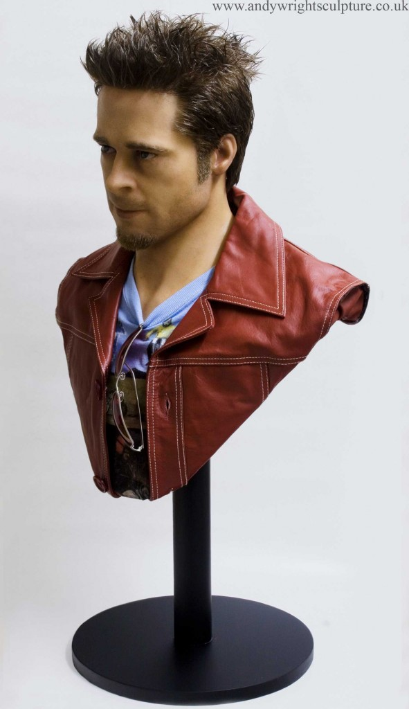 Fight Club - Brad Pitt 1:1 life size portrait bust sculpture statue