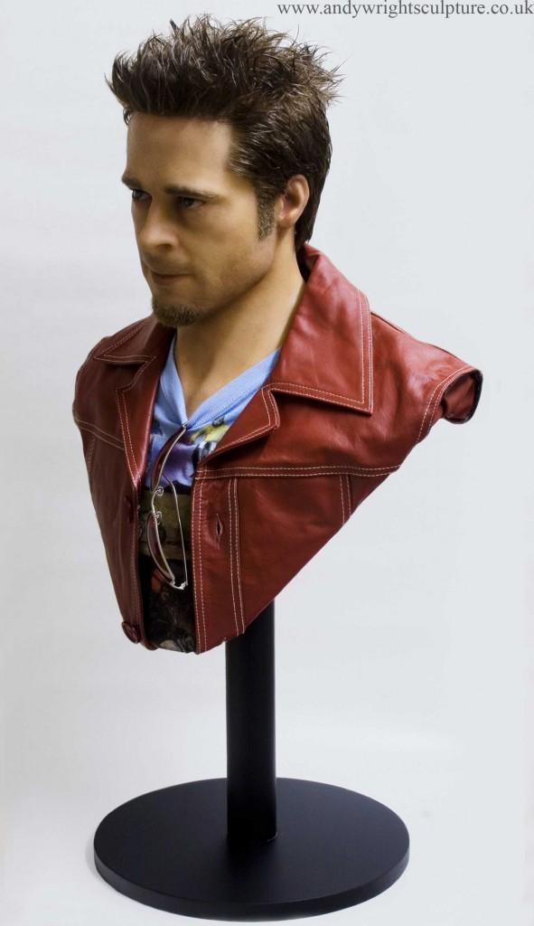 Fight Club - Brad Pitt 1:1 life size portrait bust sculpture statue