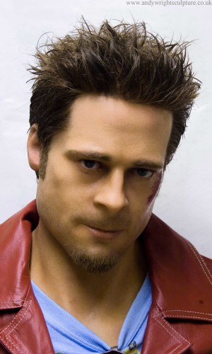 Tyler Durden - Fight Club, Brad Pitt, collectible 1:1 sculpture bust