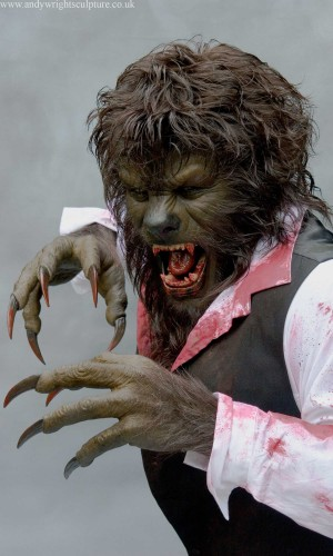 The Wolfman by Rick Baker life size 1:1 upper torso replica statue