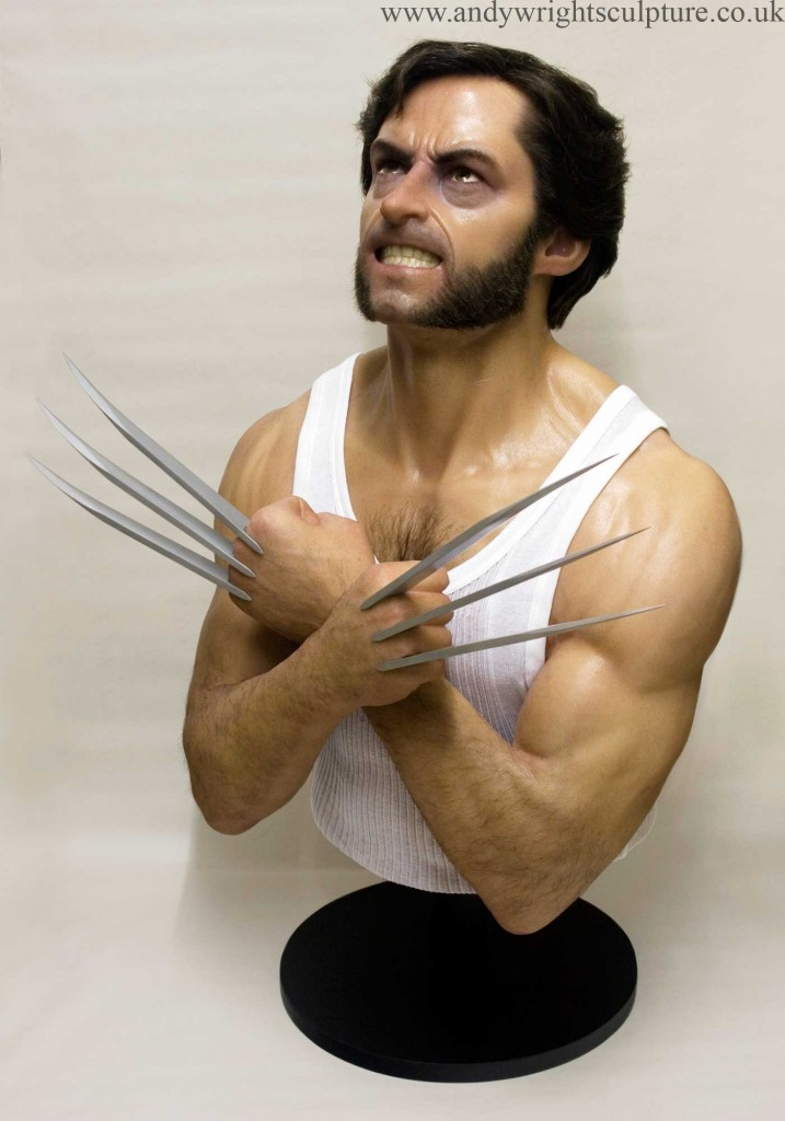 Wolverine X-men 1:1 life size portrait bust sculpture collectible