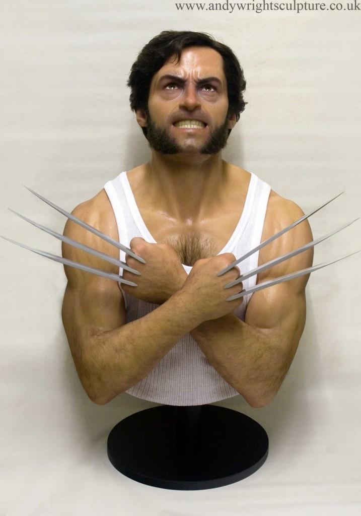 Wolverine rfrom X-men Hugh Jackman life size portrait bust statue