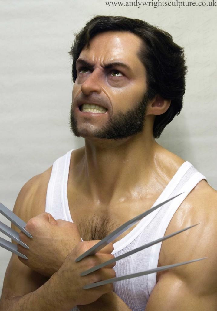 Wolverine X-men Logan life size silicone portrait bust statue prop