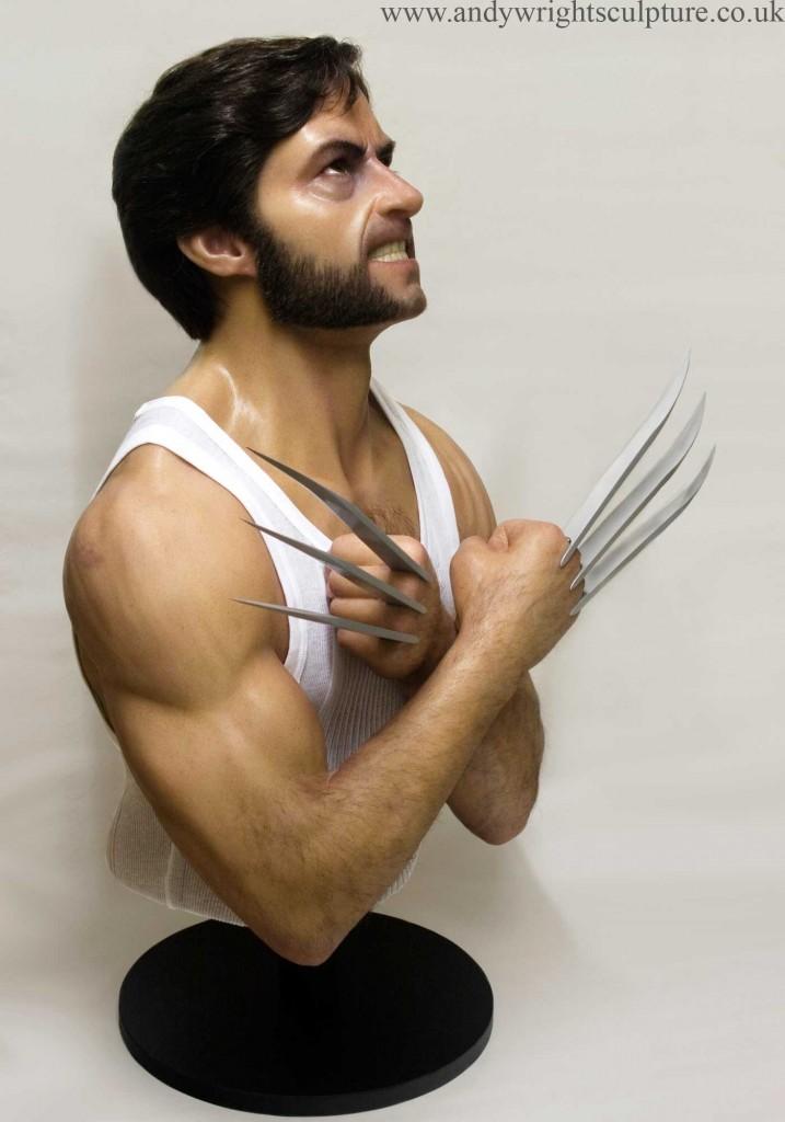 Wolverine  - X-men Logan life size silicone portrait bust statue prop
