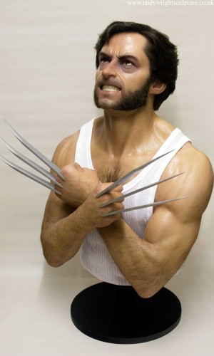 Wolverine Hugh Jackman 1:1 portrait bust sculpture collectible