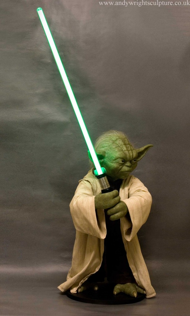 Yoda from the Star Wars prequels, life size replica prop collectible