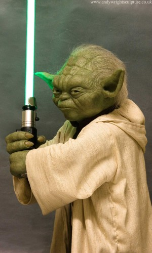 Yoda from Star Wars- Attack of the Clones 1:1 life size prop statue