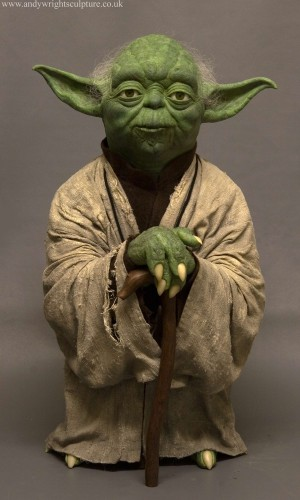 Yoda from Empire Strikes Back life size 1:1 replica statue prop